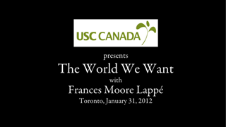 USC Canada – The World We Want – Video Production